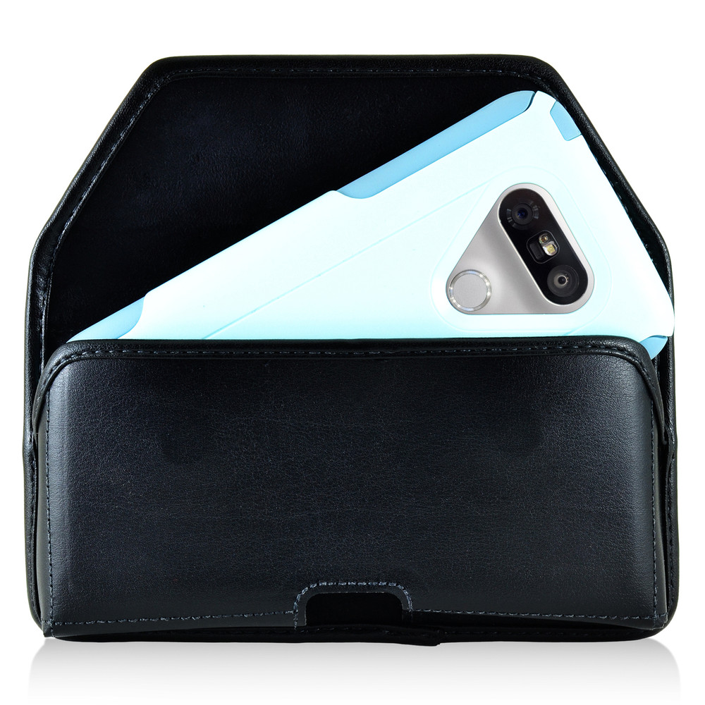 competitive price b9d69 6def8 Turtleback LG G5 Leather Holster Case with Black Belt Clip for Otterbox  Commuter