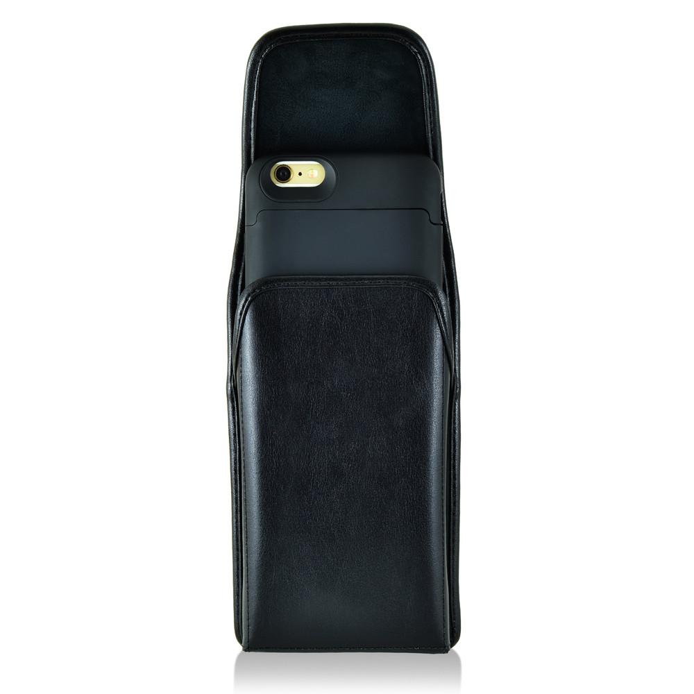 new arrival d7f71 78d68 Mophie Juice Pack iPhone 6S+ Plus Holster Juice Pack Air, Space iPhone 6S+  Plus Belt Clip Case, Executive Belt Clip, Vertical Black Leather Pouch - ...