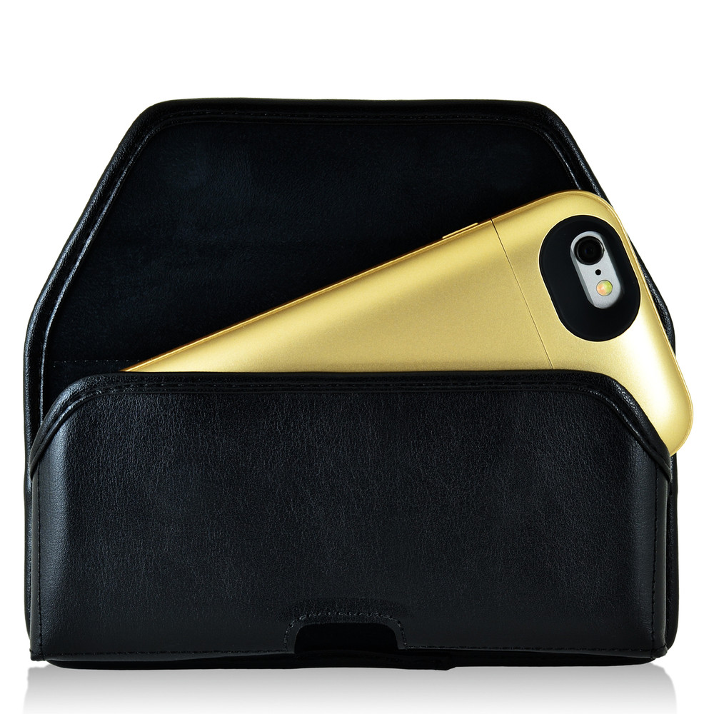 big sale 8596a 9ea04 Mophie Juice Pack iPhone 6s Holster Juice Pack Air, Plus, Ultra, Space,  iPhone 6S Belt Case, Black Leather Pouch with Executive Belt Clip,  Horizontal ...