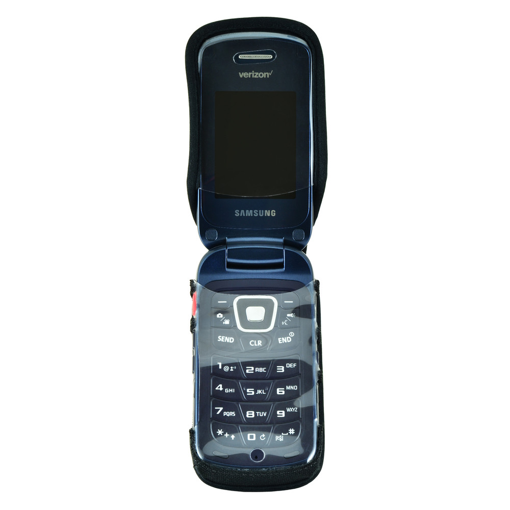 Samsung Convoy 4 Flip Phone Heavy Duty Nylon Fitted Case with Rotating Removable Metal Belt Clip