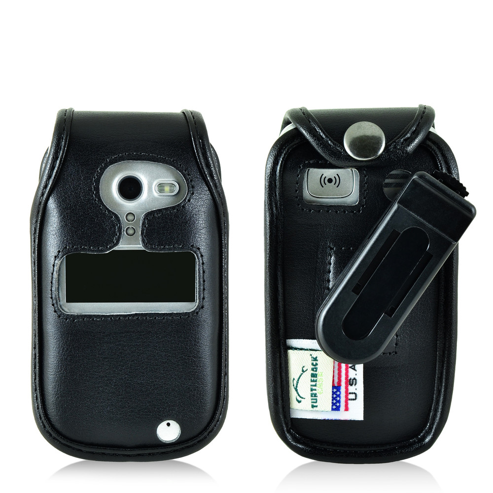 hot sale online 1ede9 0037c Doro PhoneEasy 626 Flip Phone Fitted Case Black Leather Plastic Clip  Turtleback
