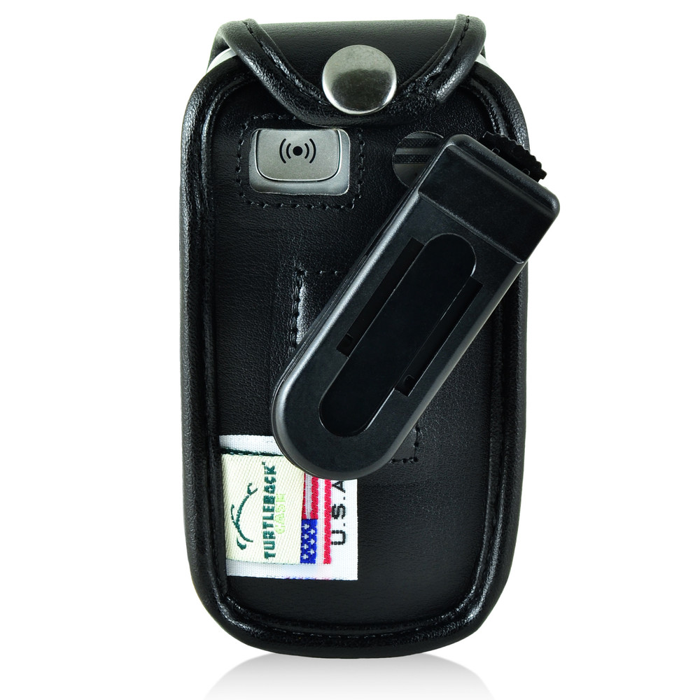 hot sale online 8a5a9 85af7 Doro PhoneEasy 626 Flip Phone Fitted Case Black Leather Plastic Clip  Turtleback