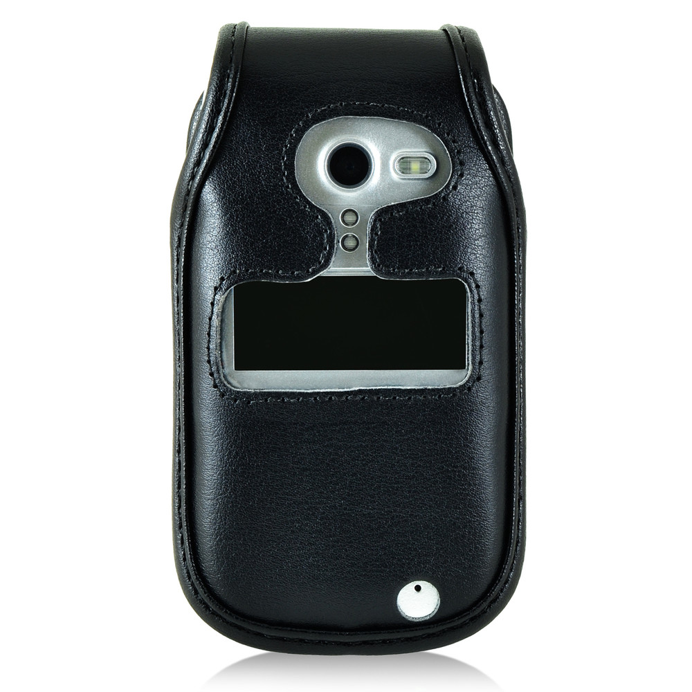 new styles 95205 fe997 Doro PhoneEasy 626 Flip Phone Fitted Case Black Leather Metal Clip  Turtleback