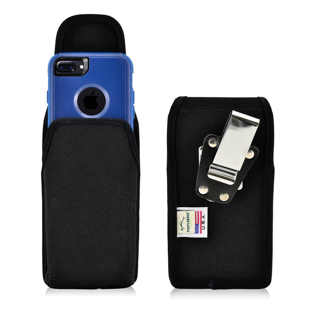 iPhone SE 2020 (2nd Gen), iPhone 7 / 8 Nylon Holster Vertical Metal belt Clip Fits Otterbox Commuter