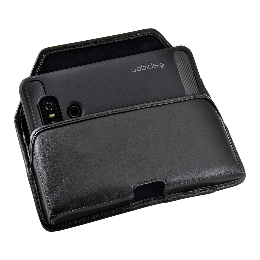 separation shoes 5e4a3 6d620 LG G6 Leather Holster Case Black Belt Clip