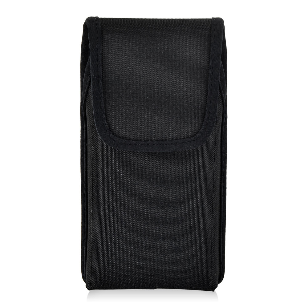 Turtleback Vertical Holster Compatible with Galaxy S10+ Plus S9+ S8+ A30 A20 A50, Belt Clip Case, Rotating Belt Clip, Black Nylon Pouch, Heavy Duty Made in USA