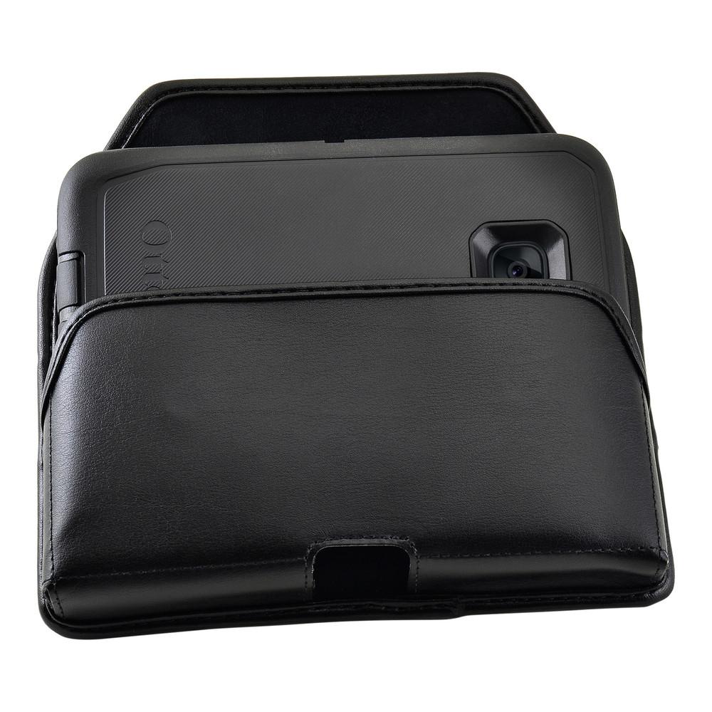 S7 Edge Leather Holster Metal Belt Clip Fits Otterbox Defender