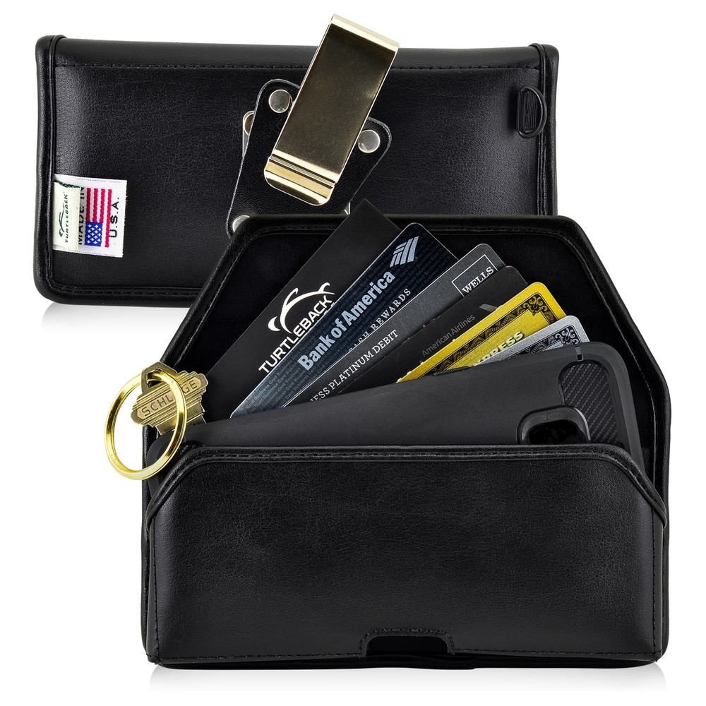 6.10 x 2.90 x 0.60 in - Smartphone Credit Card Pocket Case Holster Metal Clip (Galaxy S9, S8, S7, S7 Edge)