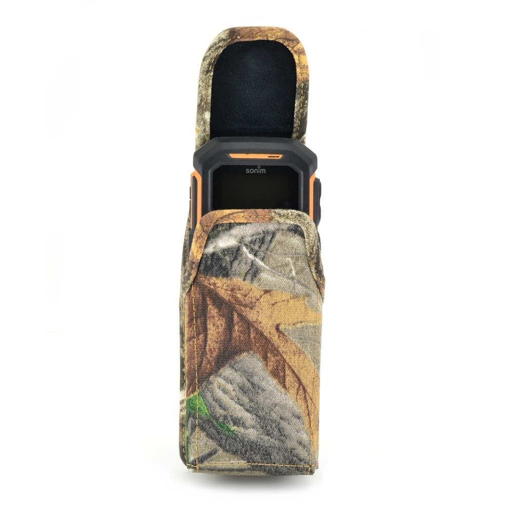 Sonim XP1520SL / XP1300 / XP3300 Vertical Camouflage Nylon Holster Pouch with Rotating removable Metal Belt Clip Magnetic Closure