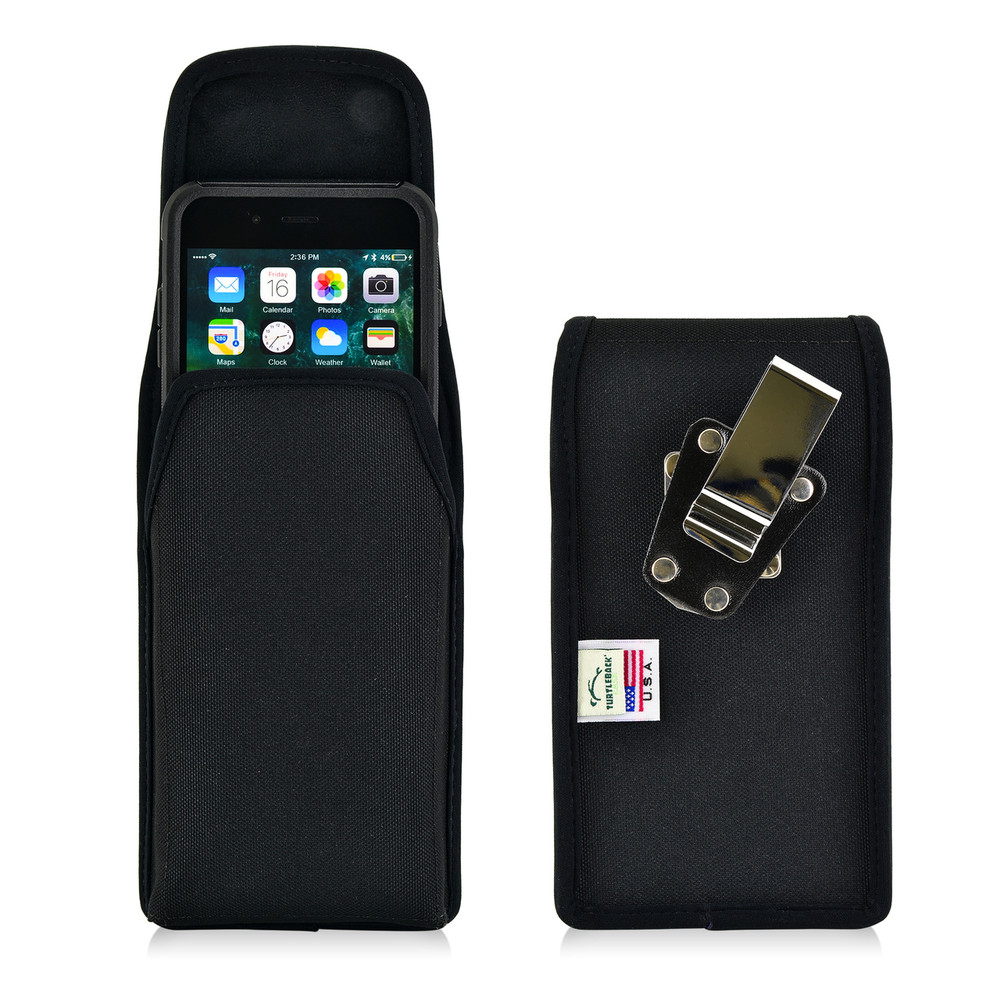 finest selection 08f96 ada7b iPhone 6S Plus Nylon Vertical Holster Metal belt Clip Case Fits Otterbox  Commuter
