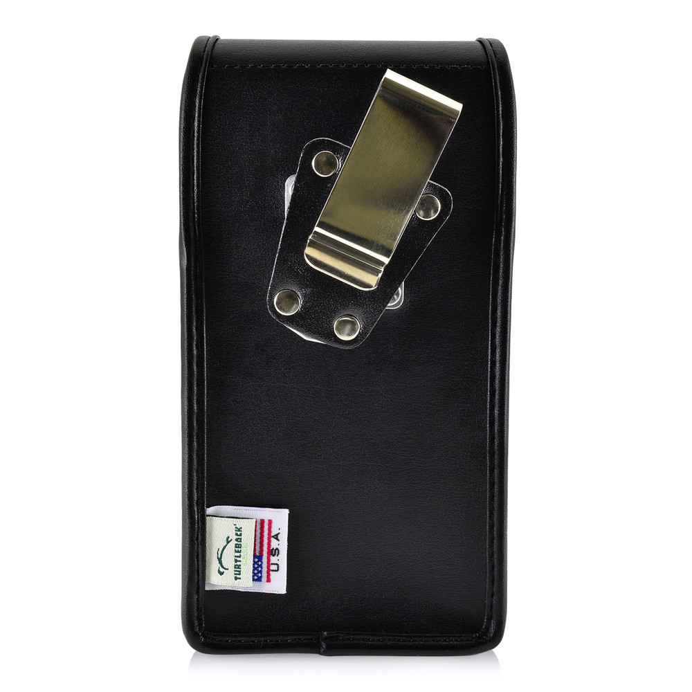 Samsung Note 9 and Note 8 Holster Metal Clip Case Pouch Leather Vertical Turtleback