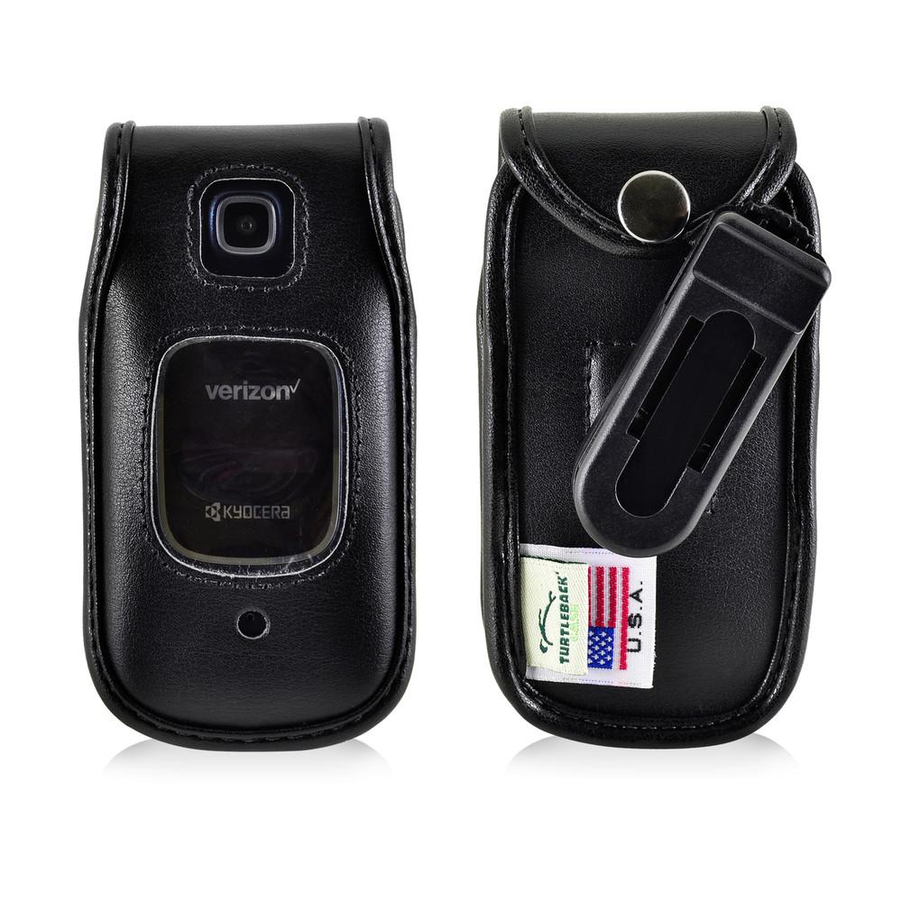 Kyocera Cadence Flip Phone Case Black Plastic Removable Clip