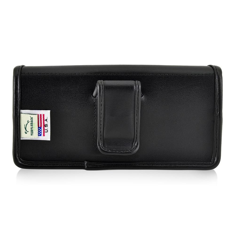 Motorola Moto Z2 Force Holster Black Belt Clip Case Pouch Leather