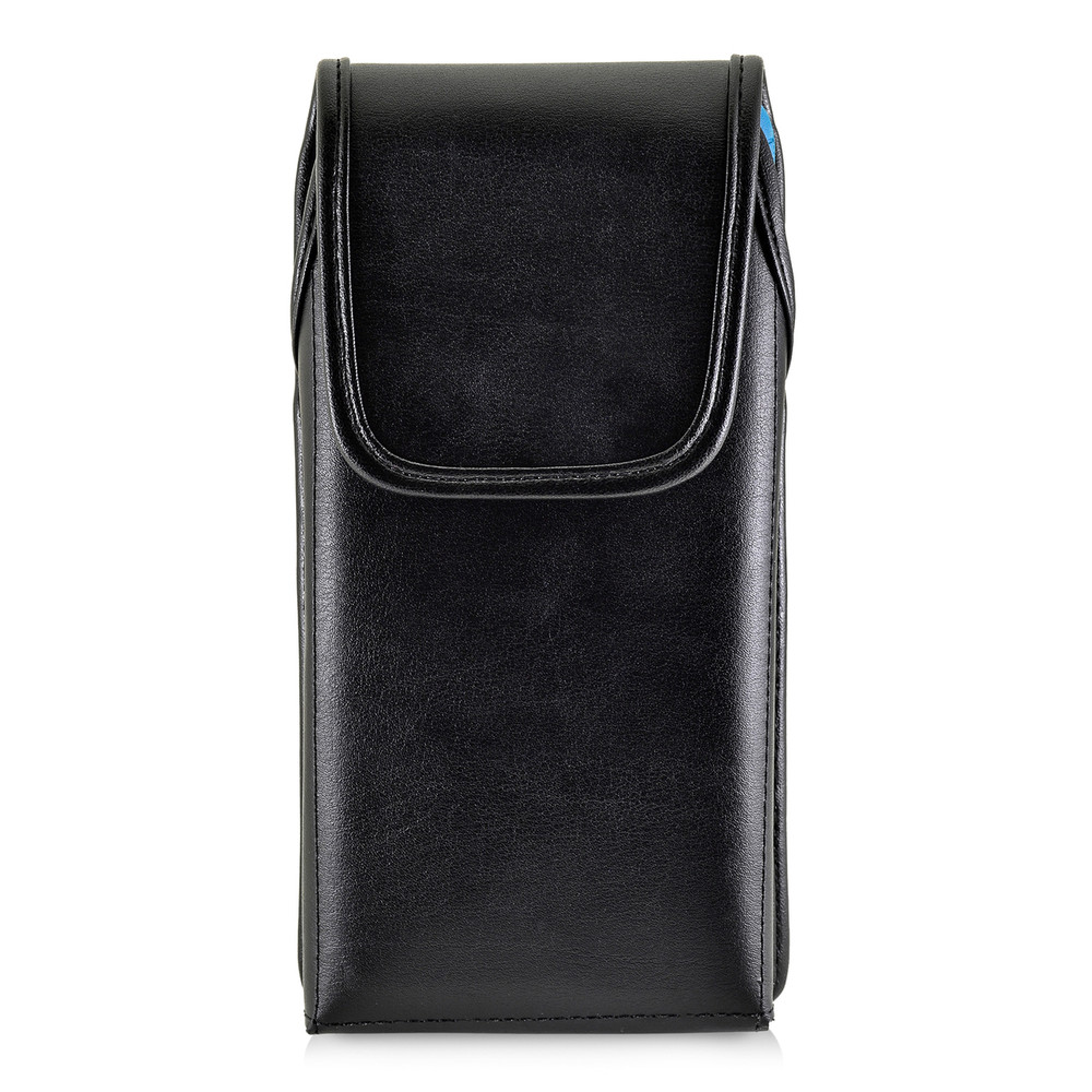 Galaxy Note 8 Vertical Leather Holster for Otterbox DEFENDER Case Black Clip and Fits Bulk Cases