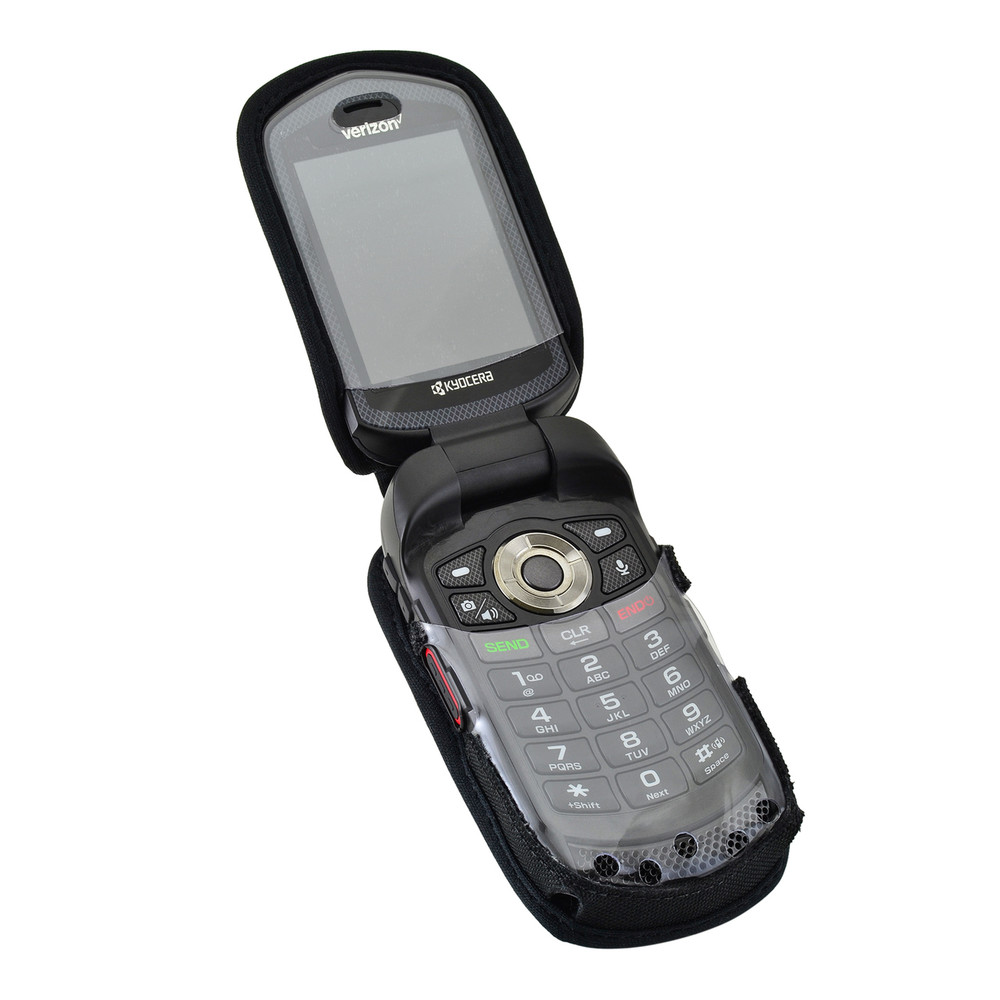 reputable site 466f9 13b26 Kyocera DuraXV LTE Verizon E4610 Flip Phone FITTED CASE Black Nylon Metal  Ratcheting Removable Clip