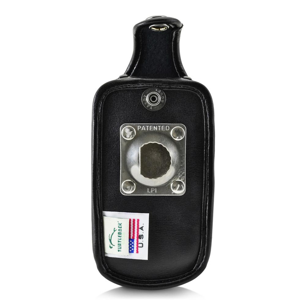 Kyocera DuraXV LTE Verizon E4610 Flip Phone FITTED CASE Black Leather Metal Ratcheting Removable Clip