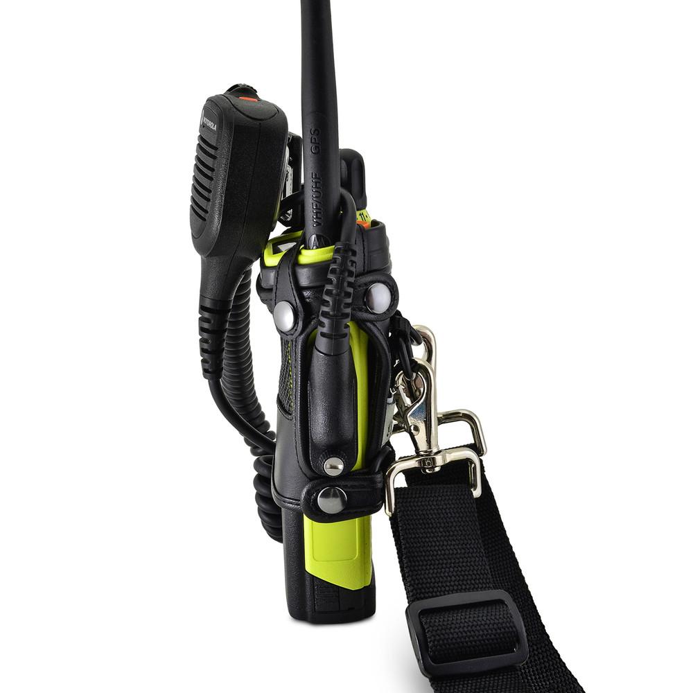 Motorola APX 7000XE Belt Holster Case with D Rings Two Way Radio Black Leather Duty Belt Heavy Duty D Rings