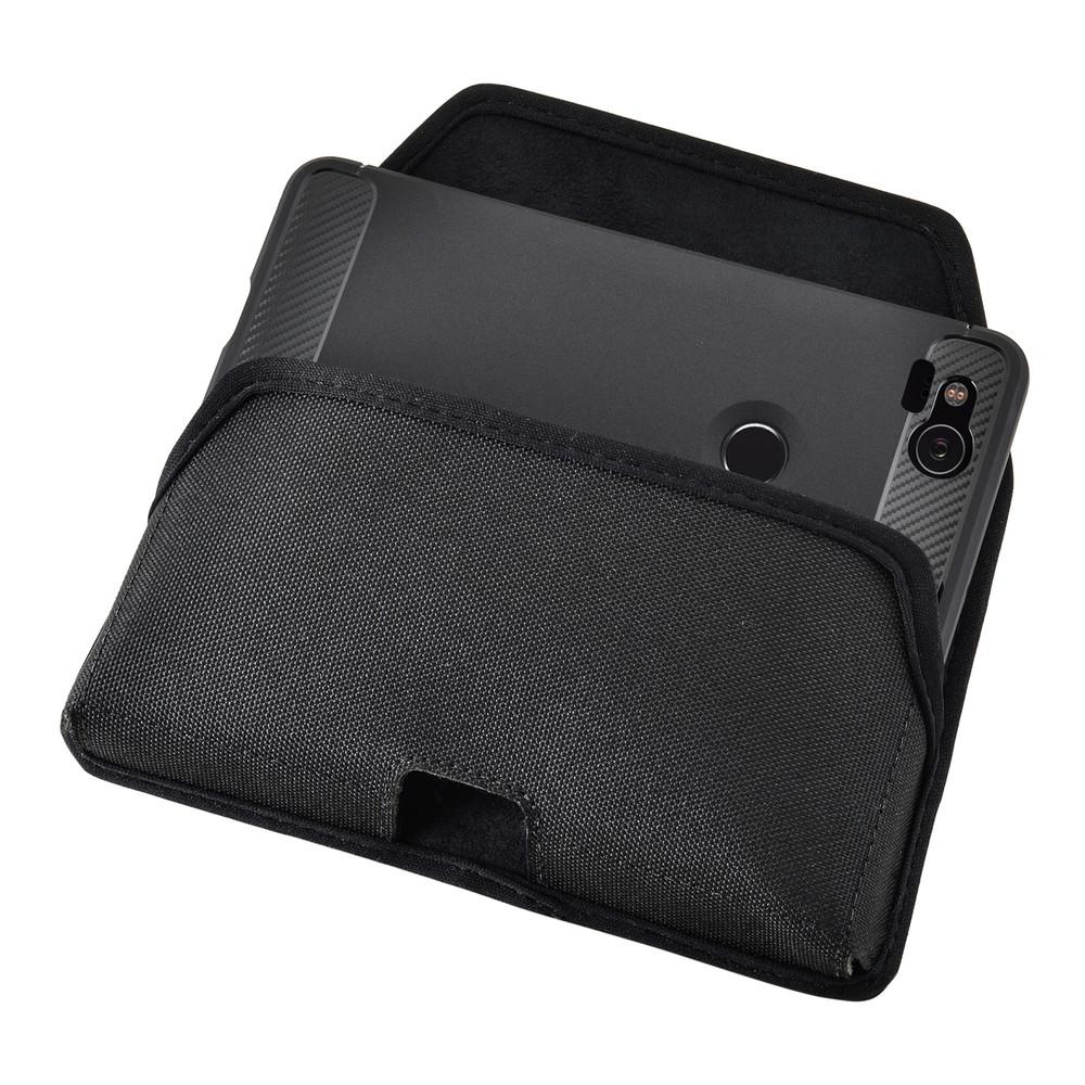 Google Pixel 2 Belt Case Fits Slim Case Black Nylon Heavy Duty Rotating Belt Clip