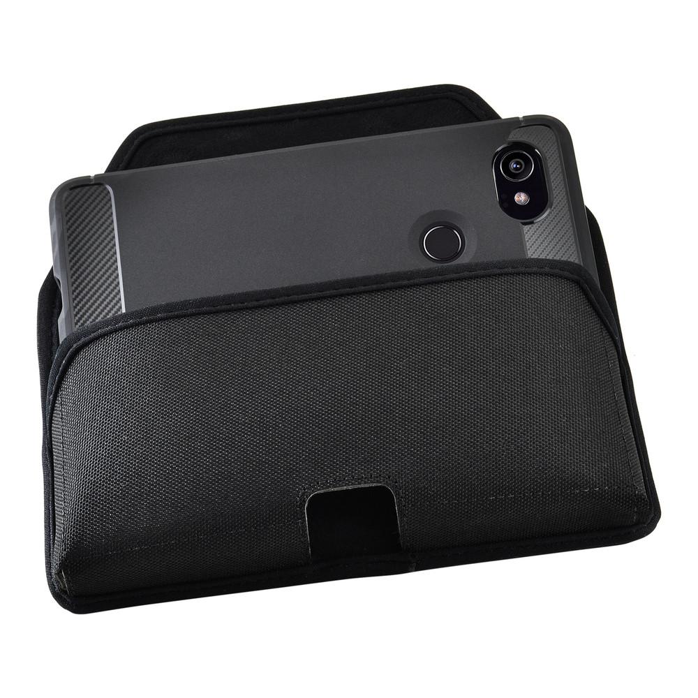 huge selection of ca4bc 7c57c Google Pixel 2 XL Belt Case Fits Slim Case Black Nylon Heavy Duty Rotating  Belt Clip