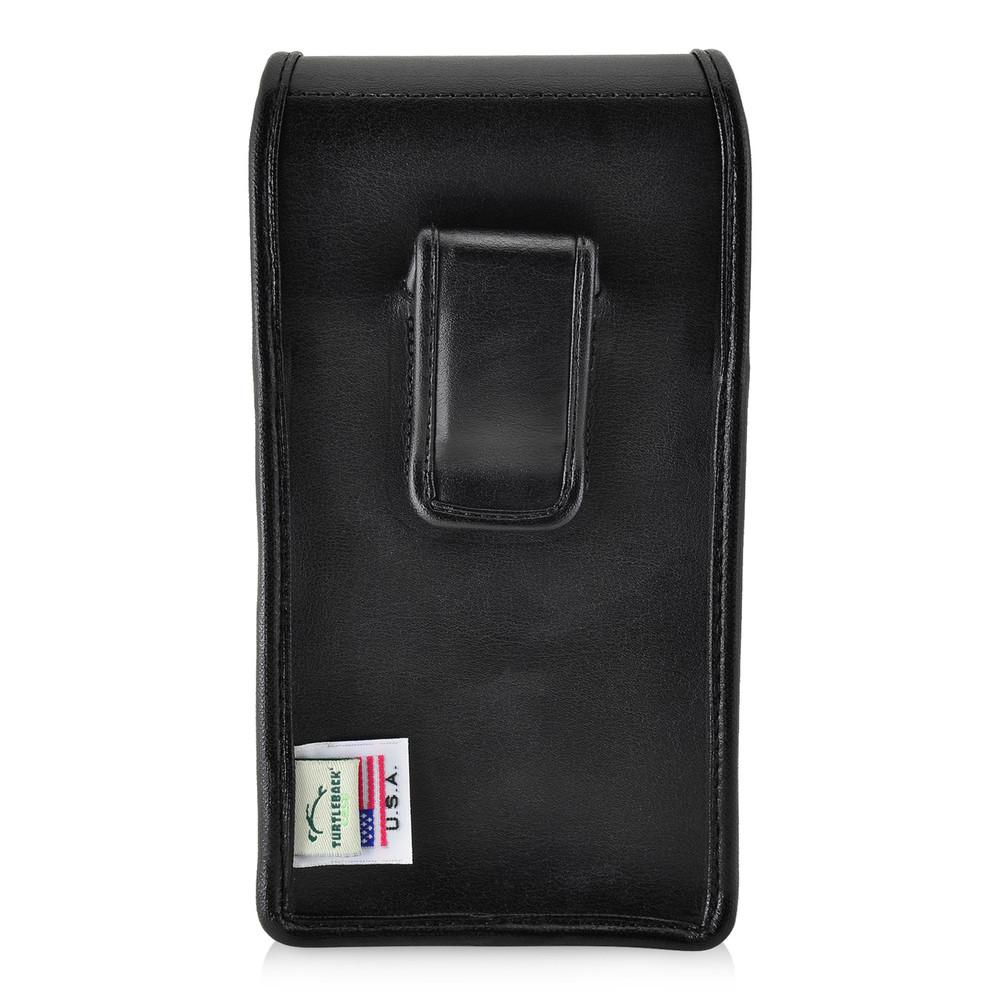Google Pixel 2 XL Belt Case Fits Slim Case Vertical Black Leather Executive Belt Clip