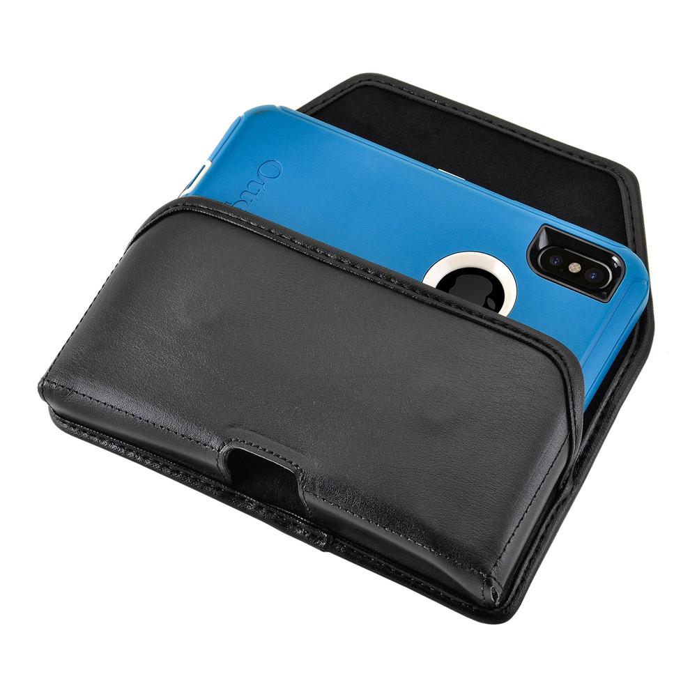 reputable site f71af 67f5f iPhone X Belt Case fits OTTERBOX DEFENDER Case Black Holster Rotating Belt  Clip, Horizontal