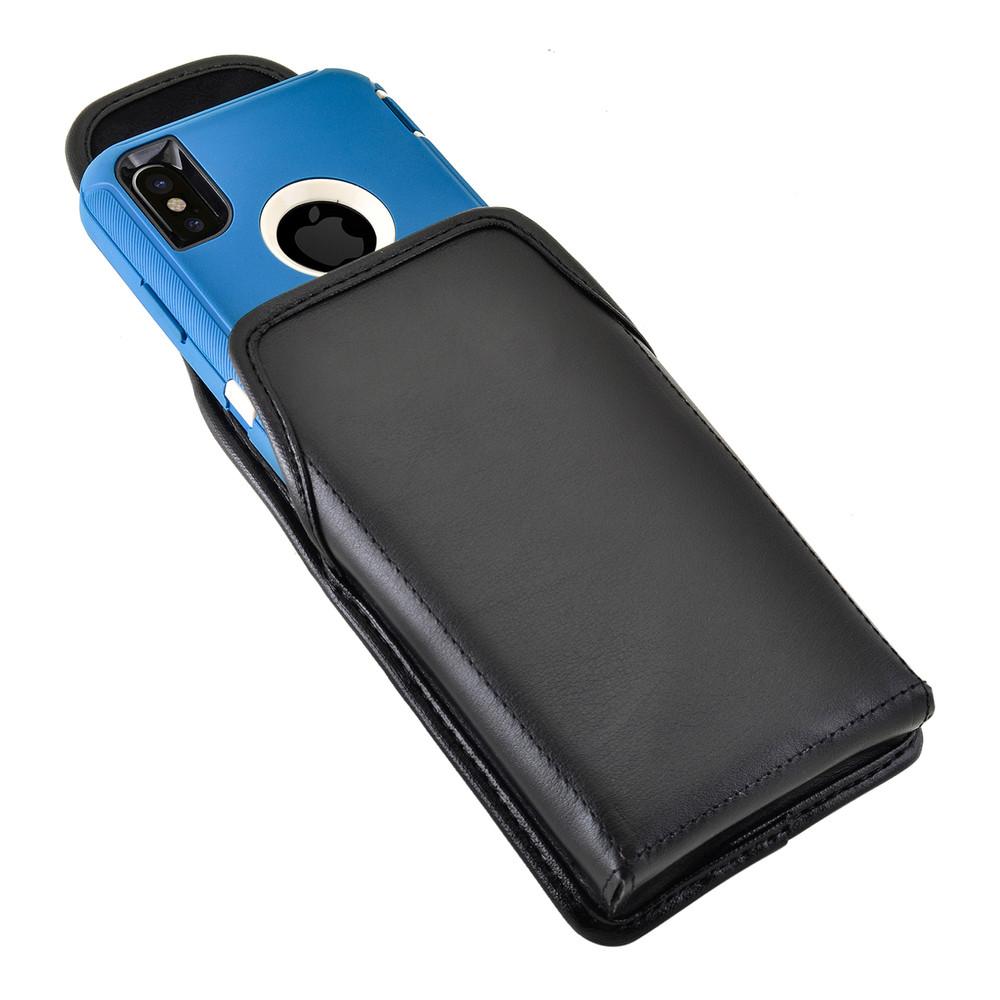 buy popular 90309 64890 iPhone X Belt Case fits OTTERBOX DEFENDER Case Black Holster Rotating Belt  Clip, Vertical