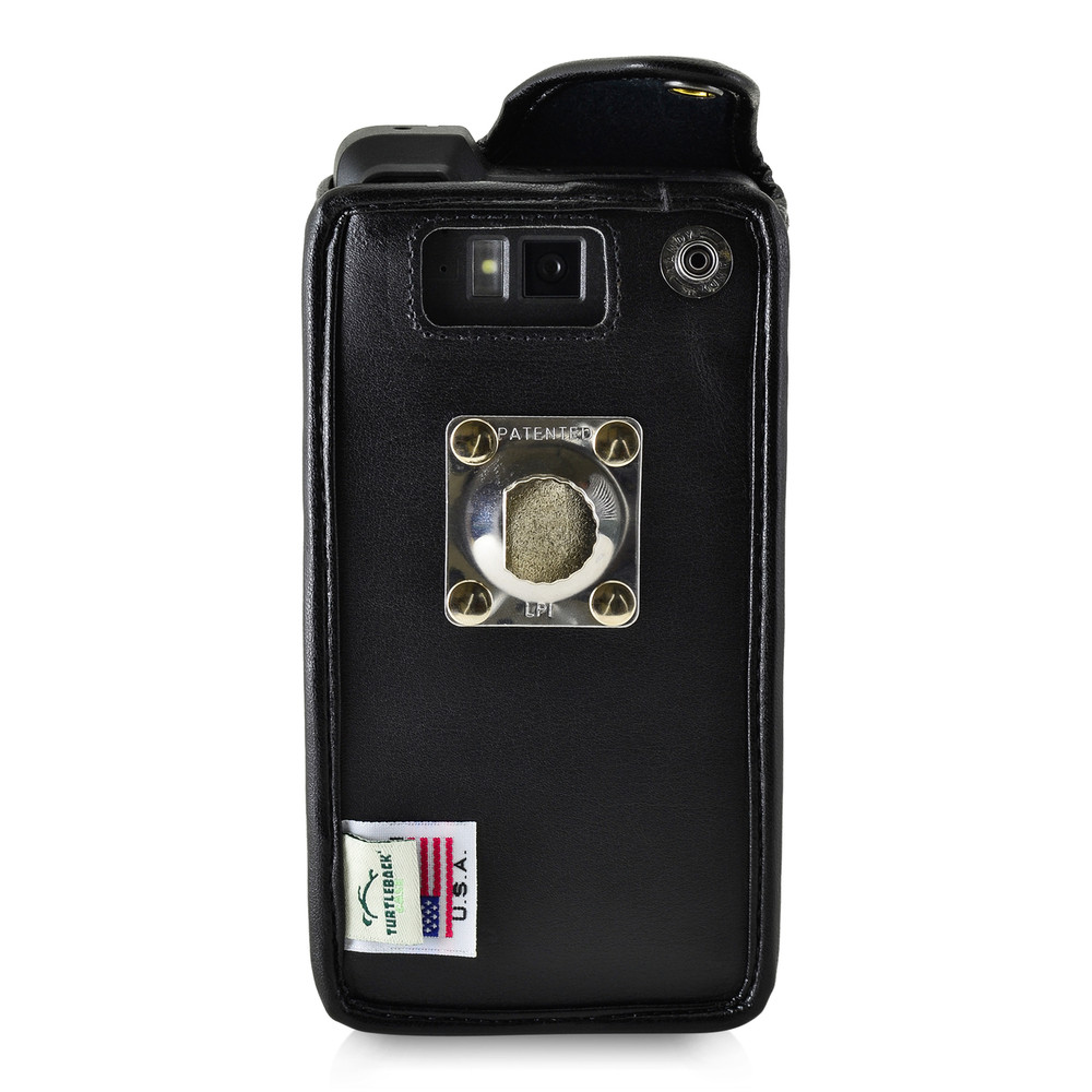 Sonim XP8 Fitted Phone Case Black Leather Metal Clip Turtleback