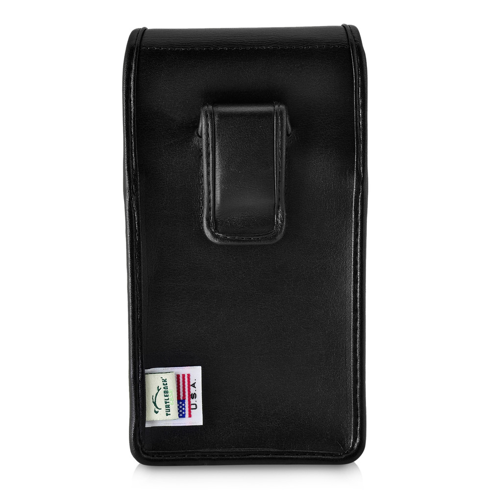 low priced 561fa 3b4f1 Galaxy S9 Plus Vertical Holster for Otterbox PURSUIT Case Flush Leather  Covered Belt Clip Pouch