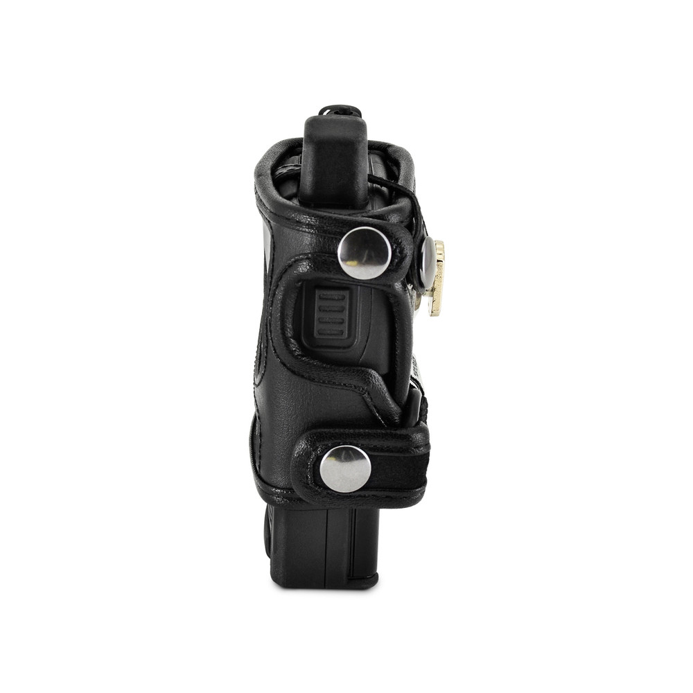 Unication G1 Voice Pager Fire Pager Radio Phone Black Leather Case Metal Ratcheting Removable Belt Clip