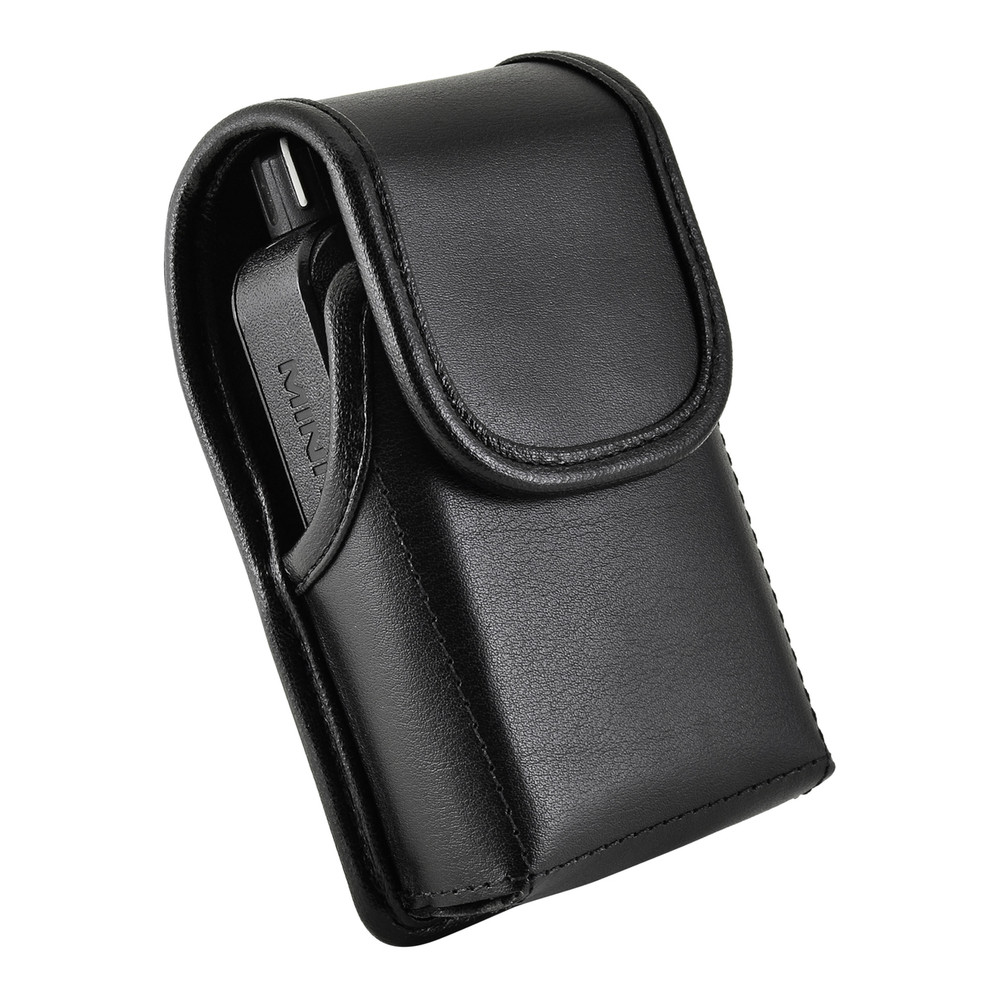 Motorola Minitor VI 6 Voice Pager Fire Radio Leather Holster Case Leather Covered Belt Clip Magnetic Closure
