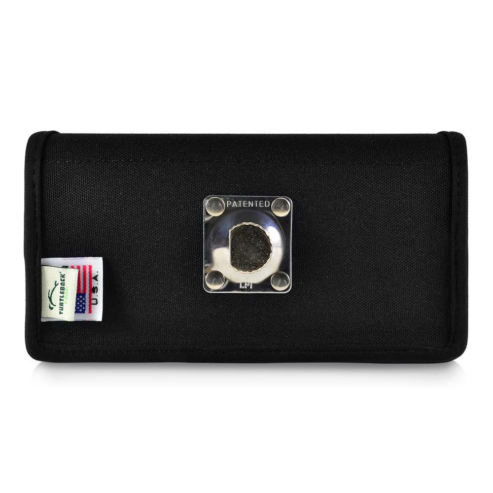 LG G7 Black Belt Case with Rotating Belt Clip, Heavy Duty Black Nylon Horizontal Pouch