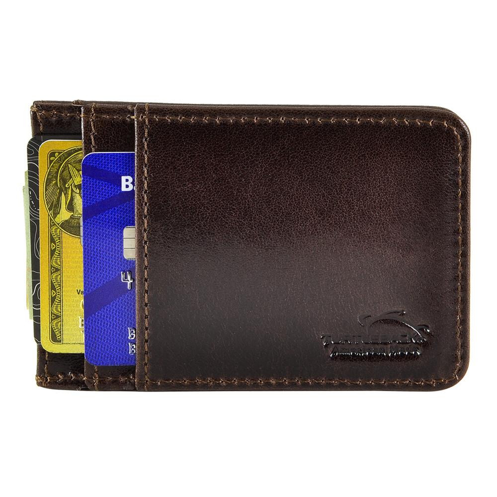 Turtleback Front Wallet Rfid Id Window Blocking Men Leather