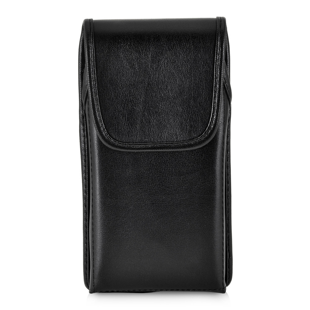 iPhone XS MAX (2018) Belt Case Vertical Holster Black Leather Pouch Executive Belt Clip