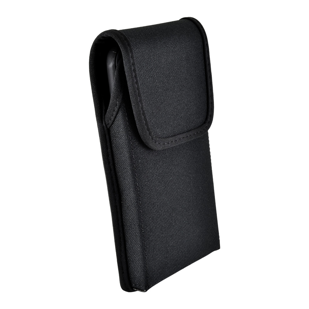 iPhone 11 Pro Max (2019) & XS MAX (2018) Belt Clip Vertical Holster Case Black Nylon Pouch Heavy Duty Rotating Clip