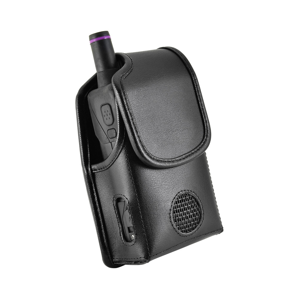 Unication G4 G5 Voice Pager Fire Radio pager fire radio Black Leather Pouch Holster Case Rotating Belt Clip Magnetic Flap