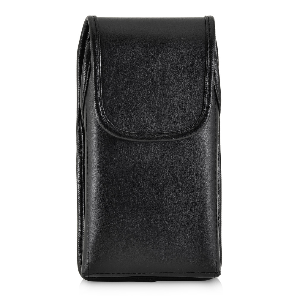finest selection f02b1 2efd9 iPhone XR (2018) Belt Holster Vertical Holster Black Leather Pouch  Executive Belt Clip