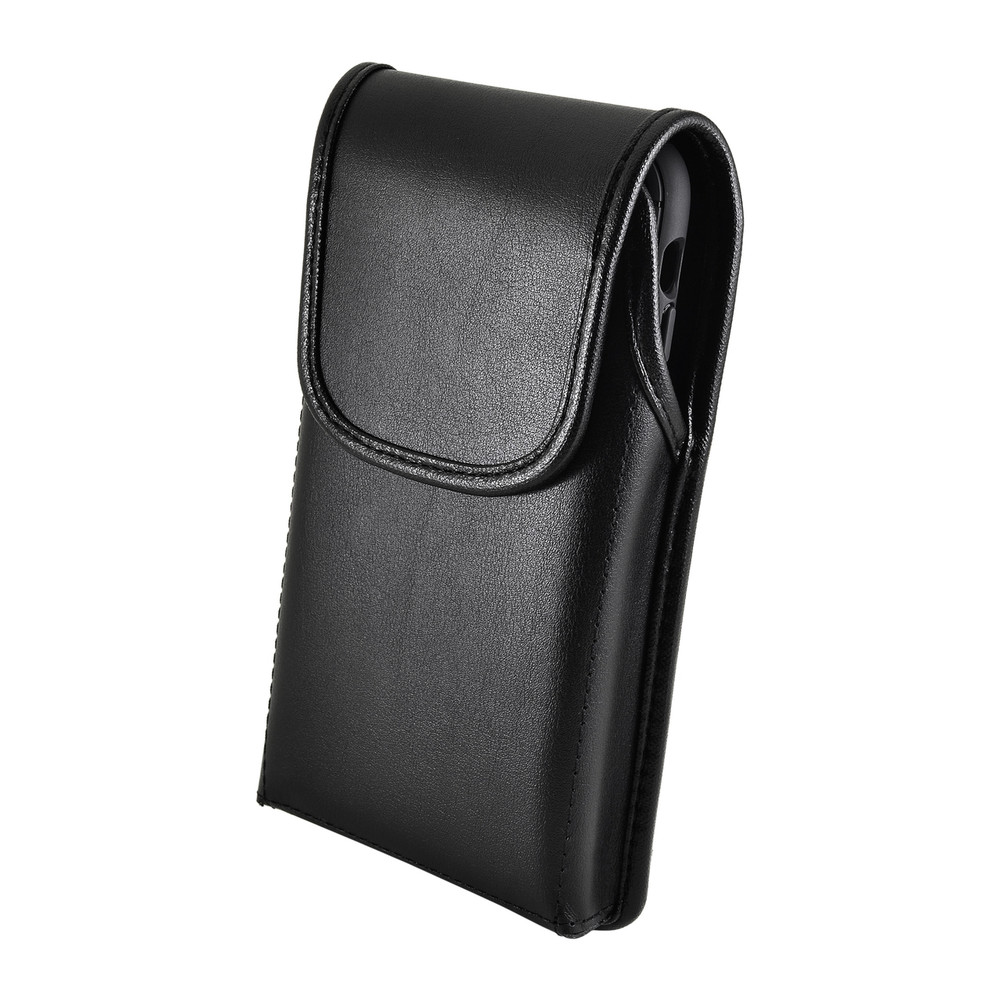 iPhone XR (2018) Belt Case Vertical Holster Black Leather Pouch Heavy Duty Rotating Belt Clip
