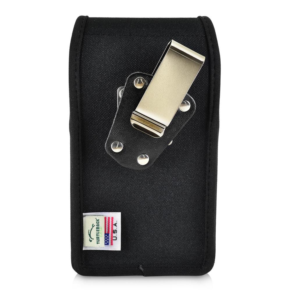 new concept de0b3 cee3b iPhone XR (2018) Belt Clip Vertical Holster Case Black Nylon Pouch Heavy  Duty Rotating Clip
