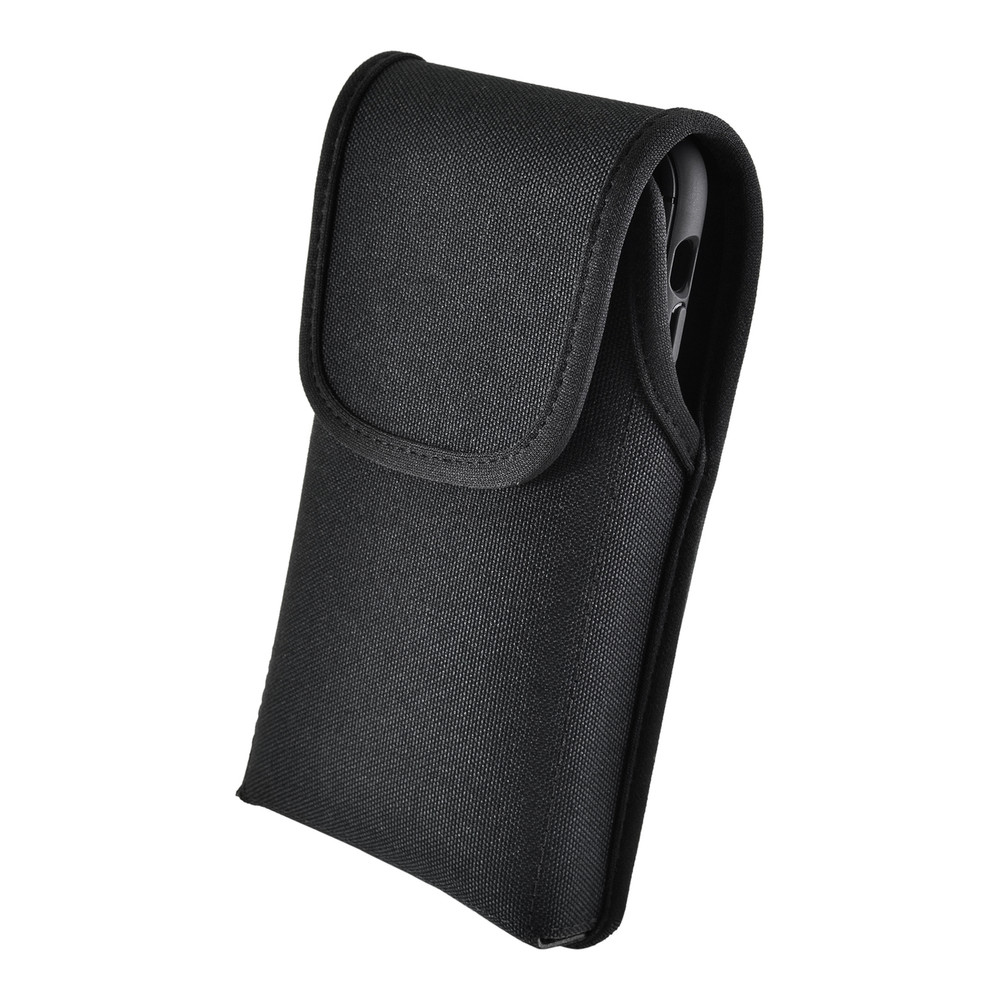 iPhone 11 (2019) & iPhone XR (2018) Belt Clip Vertical Holster Case Black Nylon Pouch Heavy Duty Rotating Clip