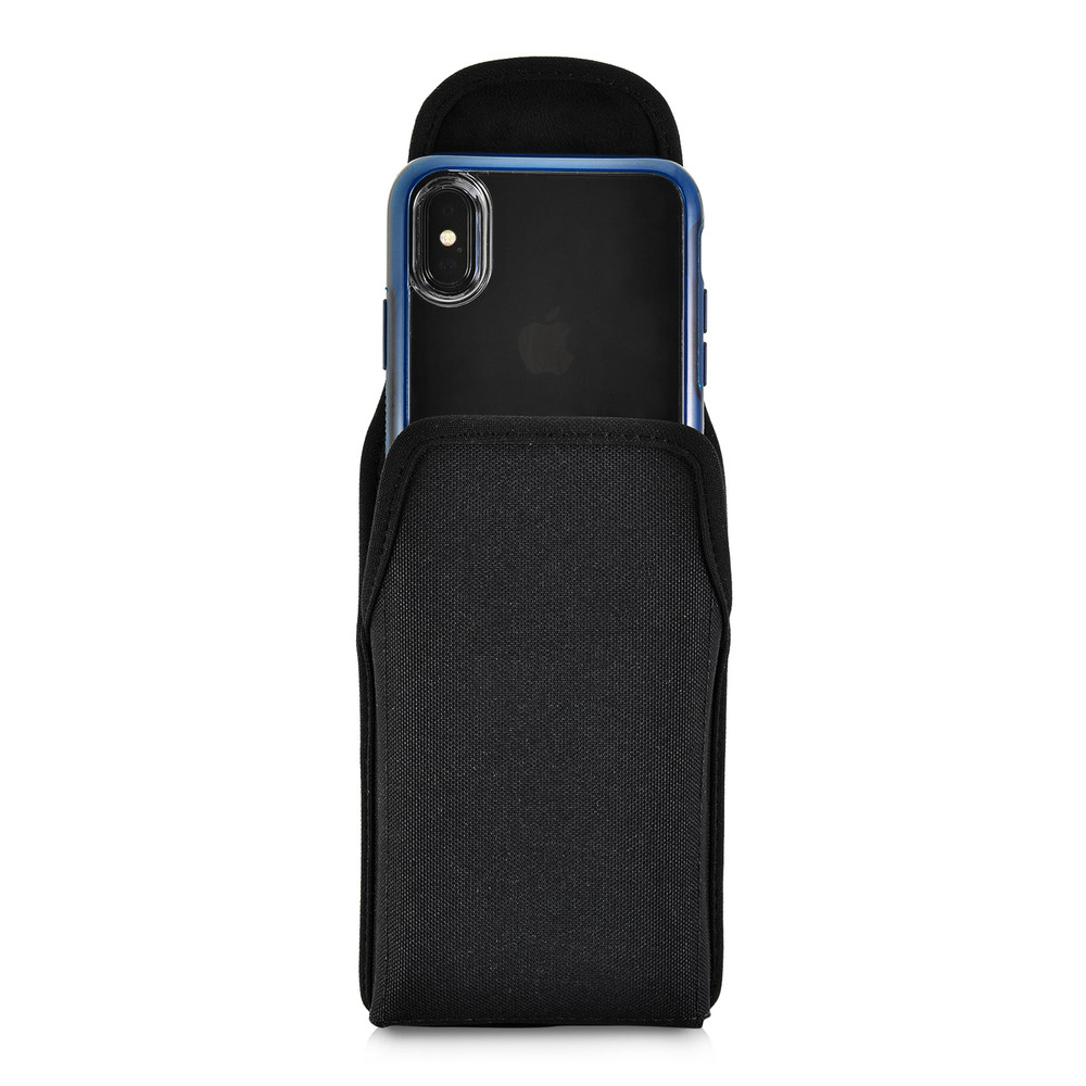 on sale e9bc7 8bc32 iPhone XS (2018) Fits with OTTERBOX STATEMENT Vertical Holster Black Nylon  Pouch Rotating Belt Clip