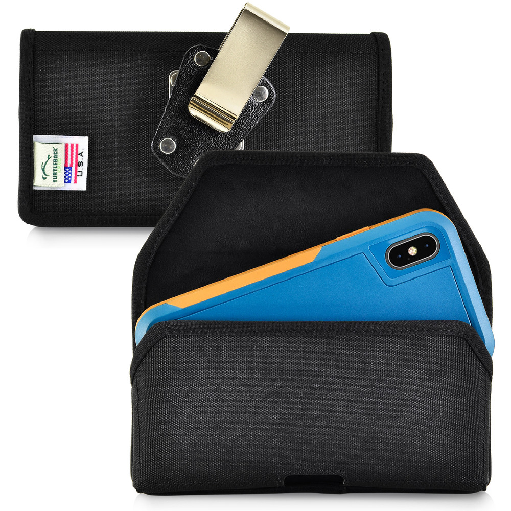wholesale dealer 655ce 8f012 iPhone XS (2018) Fits with OTTERBOX PURSUIT Black Nylon Holster Pouch  Rotating Belt Clip Horizontal