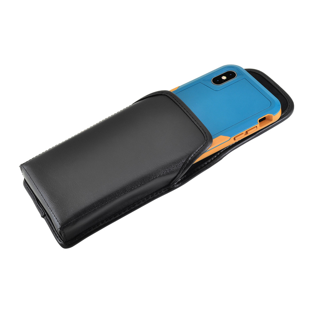 best loved aa596 fcc41 iPhone XS (2018) Fits with OTTERBOX PURSUIT Vertical Belt Case Black  Leather Pouch Executive Belt Clip