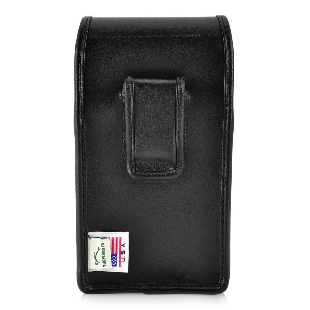 iPhone XS (2018) Fits with OTTERBOX PURSUIT Vertical Belt Case Black Leather Pouch Executive Belt Clip