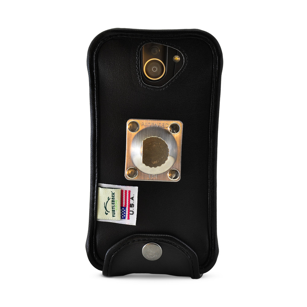 timeless design 17286 a9afb Kyocera DuraForce PRO 2 Fitted Phone Case Black Leather Metal Clip  Turtleback
