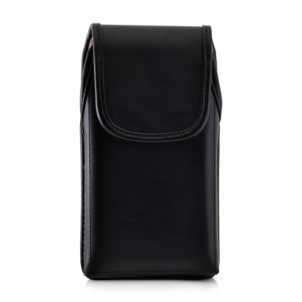 Turtleback Belt Case Designed for iPhone 11 (2019) & XR (2018) Fits with OTTERBOX SYMMETRY, Vertical Holster Black Leather Pouch with Heavy Duty Rotating Belt Clip, Made in USA