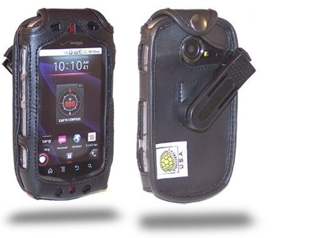 Casio GzOne Commando Executive Black Leather Case with Ratcheting Belt Clip
