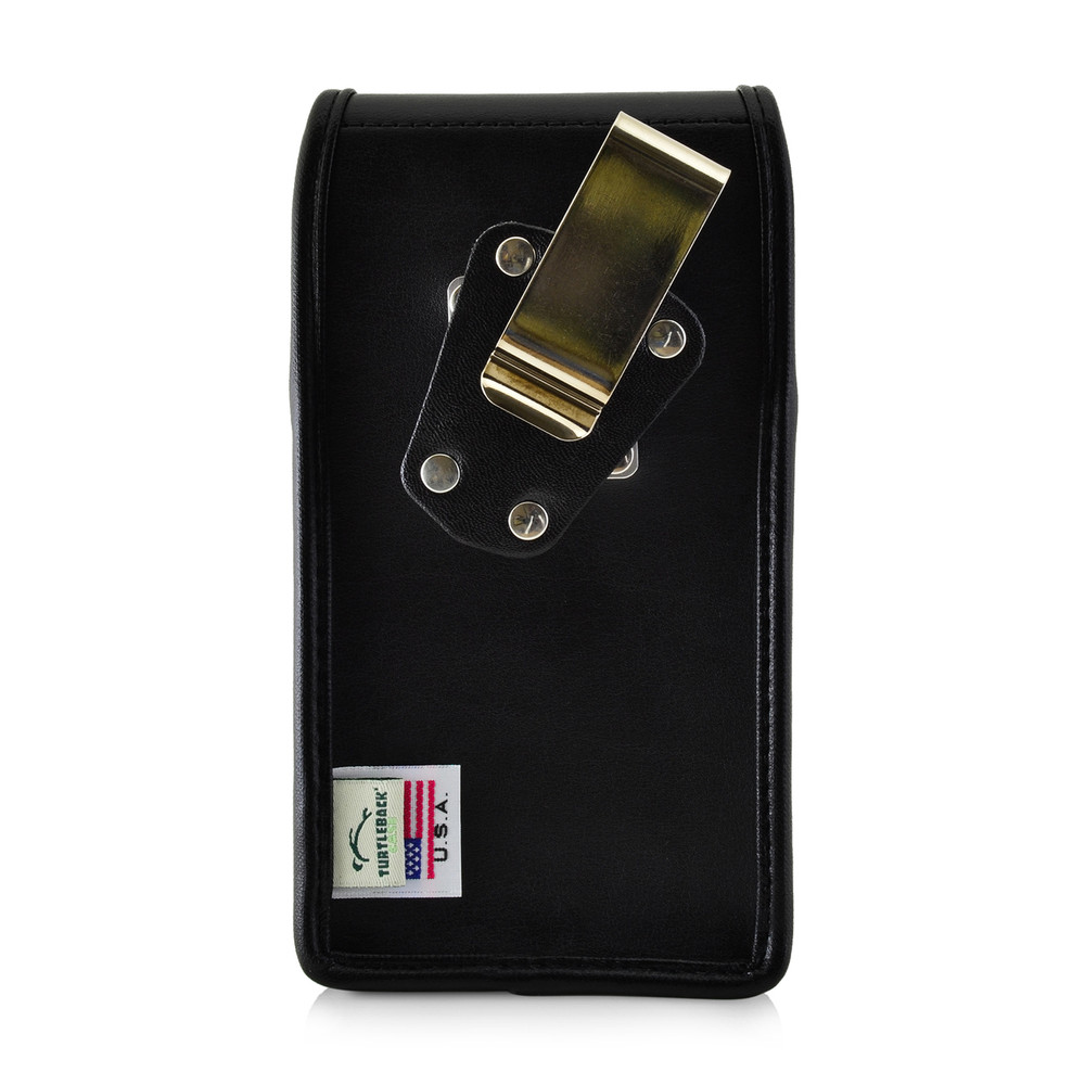reputable site 1a684 4196c iPhone XR (2018) Fits with OTTERBOX COMMUTER Vertical Holster Black Leather  Pouch Rotating Belt Clip