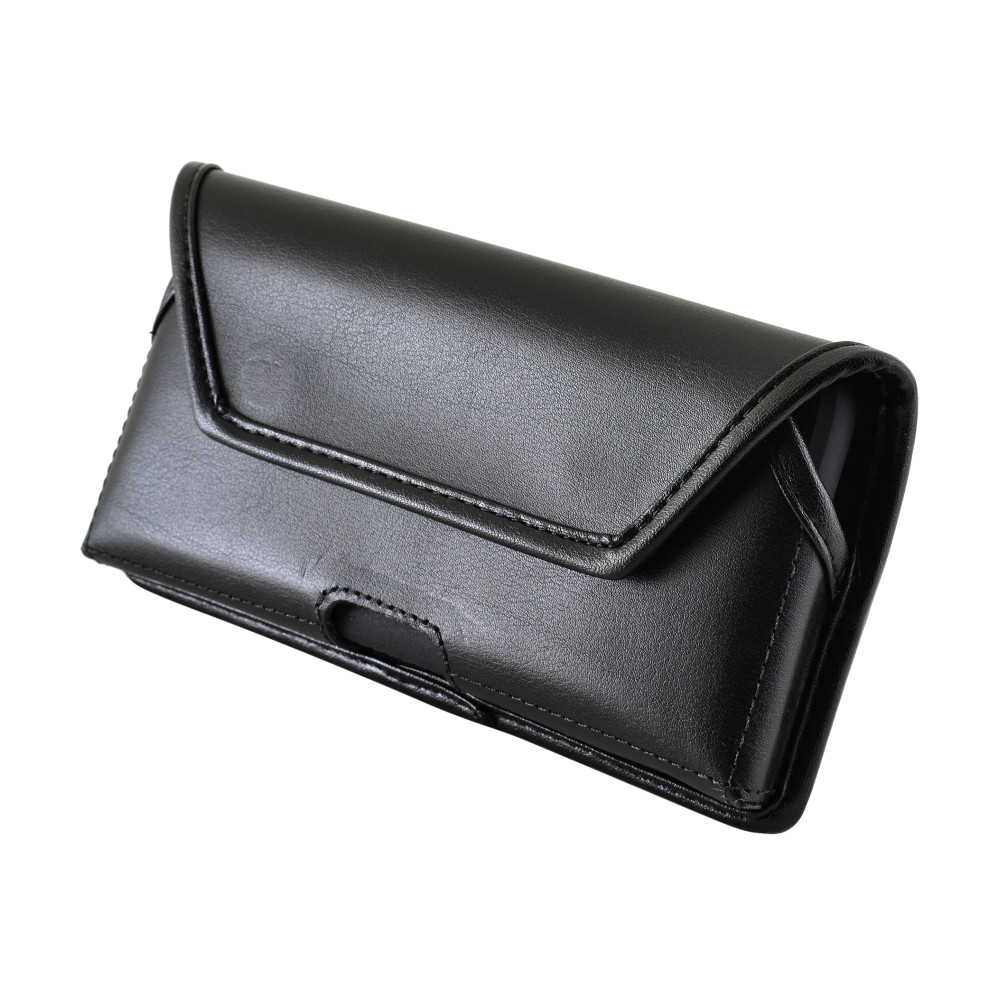 Galaxy S10e A10e Belt Case, Turtleback Galaxy S10e A10e Holster, Rotating Belt Clip, Black Leather Pouch, Heavy Duty Horizontal Made in USA