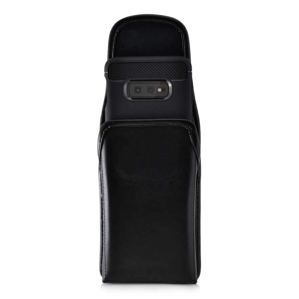 Galaxy S10e Leather Vertical Holster Case Metal Belt Clip