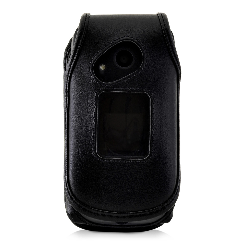 cheaper 7d63b e4c48 Turtleback Sonim XP3 Case Heavy Duty Fitted Black Leather Case with  Rotating Removable Metal Belt Clip, Fits SonimXP3 Flip Phone, Made in USA